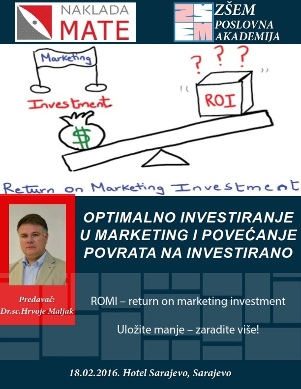 OPTIMALNO INVESTIRANJE U MARKETING I POVEĆANJE POVRATA NA INVESTIRANO